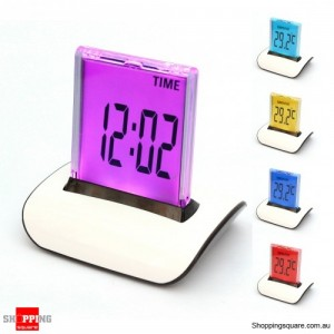 7 Led Colour-Changing Digital Dest thermometer Calendar Alarm 5 in 1 Clock