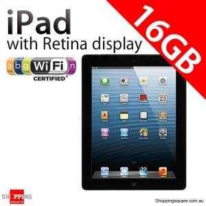 Apple iPad with Retina display 4th Gen 16GB Wifi Black, iPad 4