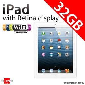 Apple iPad with Retina display 4th Gen 32GB Wifi White, iPad 4