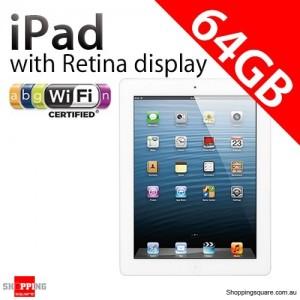 Apple iPad with Retina display 4th Gen 64GB Wifi White, iPad 4