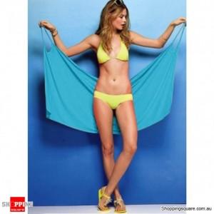 Beach Dress Open-Back Wrap Front Summer wear Cover Blue Colour