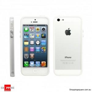 Bumper Cover Frame Case White for iPhone 5S, 5 White Colour