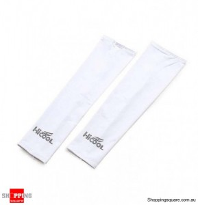 UV SUN PROTECTION ARM SLEEVE for golf driving sports Cool material White Colour