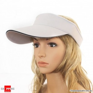 Adjustable Sports Golf Handband Cotton Sun Visor White Colour