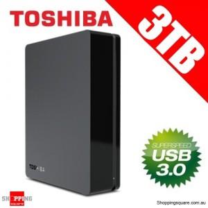 "Toshiba 3TB Canvio 3.5"" USB3.0 External Hard Drive HDD, HDWC130AK3J1"