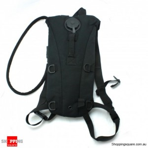 2.5L Water Bag Pouch Backpack Hiking Black Colour