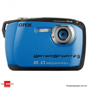 Otek Underwater Digital Video Camera, 8MP WaterProof up to 3 Meters (Blue)