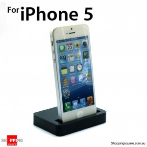 iPhone 5S 5 Charger Cradle Docking Black Colour