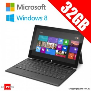 Microsoft Surface Tablet With Windows RT, Touch Cover, 32G Black