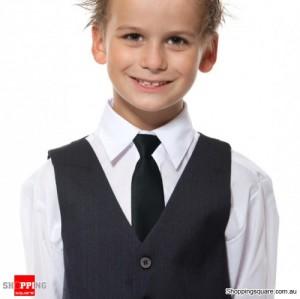 Kids Elastic Tie Necktie Black Colour