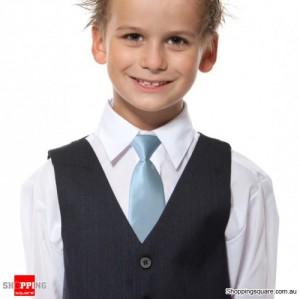 Kids Elastic Tie Necktie Light blue Colour