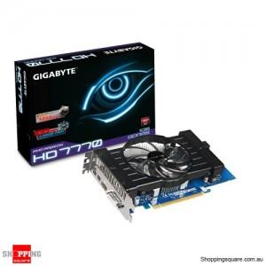 Gigabyte Radeon HD 7770,1100Mhz, 128BIT, 1GB, DDR5, PICE2.1, HDMI, DVI, MINIDISPx2