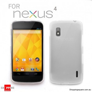 Clear Cover case for Google LG Nexus 4 E960