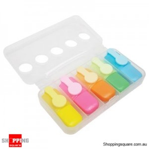 Mini Highlighters- 5 colours per pack