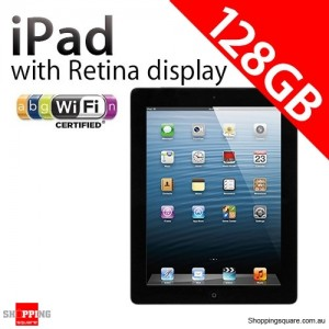 Apple iPad with Retina display 4th Gen 128GB Wifi Black, iPad 4