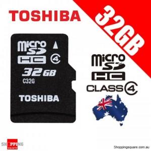 TOSHIBA 32G Micro SDHC Flash Memory Card High-Capacity