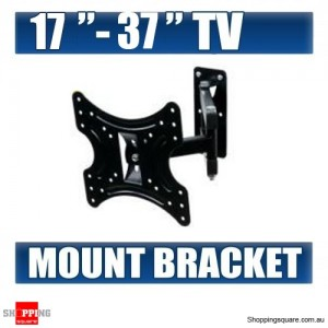 17'' - 37'' LCD LED TV Monitor Flat Tilt TV Wall Mount Bracket with Swivel Corner