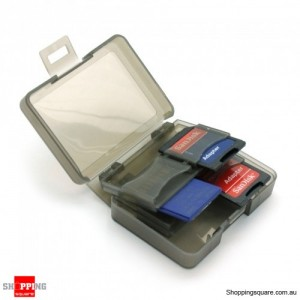 8 in 1 SD Card holder Case Storage Black Colour