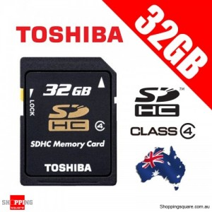 Toshiba 32GB SD SDHC Memory Card Class 4