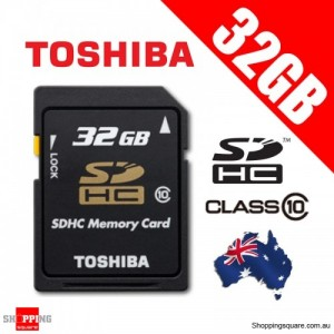 Toshiba 32G SD SDHC Flash Memory Card High Capacity Class 10