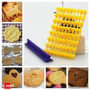 Alphabet Numbler letter cookie biscuit stamp cutter DIY set