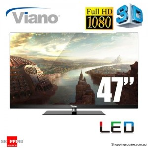 "Viano 47"" Full High Definition 3D 1080p, HDMI, USB"