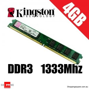 Kingston 4GB 1333MHz DDR3 Non-ECC CL9 DIMM SR (512x8)