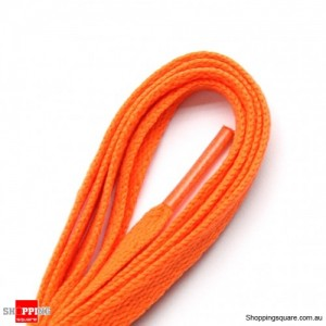 One Pair 120cm Shoelaces #8 Orange Colour