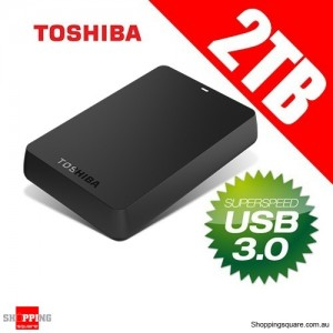 Toshiba Canvio 2TB USB 3.0 Portable External Hard Disk Drive Black HDTB120AK3C