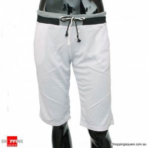 Mens Casual Gym Cool Sports Rope Shorts Pants White Colour Size 12