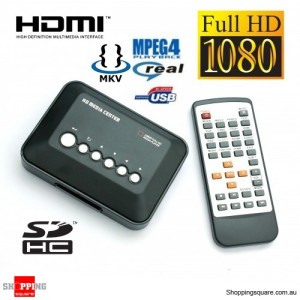 Pocket HD Media Player Centre Full 1080P HDMI - Support USB Drive, SD Card