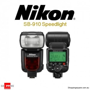 Nikon SB-910 AF Speedlight Flash Light Flashgun Shoe Mount for Digital Cameras DSLR