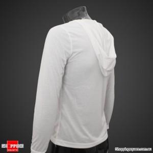 Mens Stylish Slim Fit Hoody Shirts White Size 10
