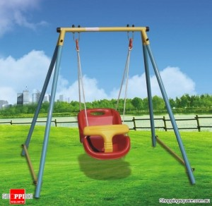 Indoor & Outdoor Baby Toddler Swing Set for Age 6 Months to 4 Years Old