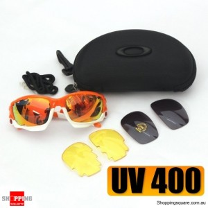 3 in 1 Outdoor UV400 Lens Glasses Sports Sunglasses Set