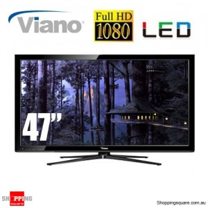 "Viano 47"" Full HD LED TV 1080p HDMI USB port"