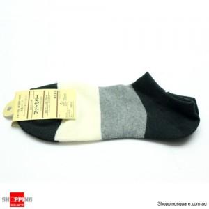 Unisex Short Socks Cotton Size 23-25cm Black Colour