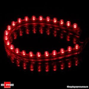 24cm 24 LED Car Neon Waterproof Flexible Strip Light Lamp Bulb 12V Red Colour