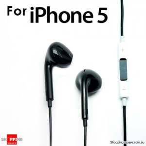 Earphone Earpods Remote MIC For Apple IPHONE 5S 5C 5 4S 4 Ipod Touch New IPAD 3 4 Mini Black Colour