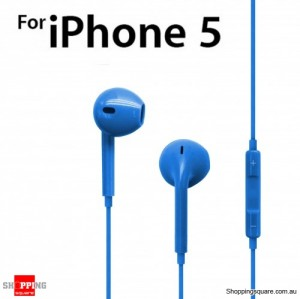 Earphone Earpods Remote MIC For Apple IPHONE 5S 5C 5 4S 4 Ipod Touch New IPAD 3 4 Mini Blue Colour