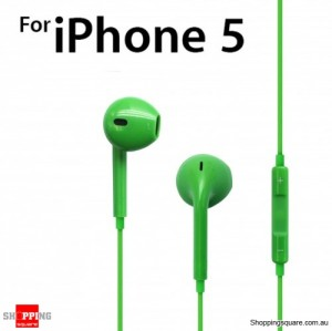 Earphone Earpods Remote MIC For Apple IPHONE 5S 5C 5 4S 4 Ipod Touch New IPAD 3 4 Mini Green Colour