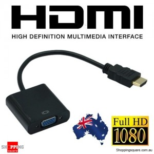 HDMI Male to VGA Female Video Adapter Cable Converter 1080P