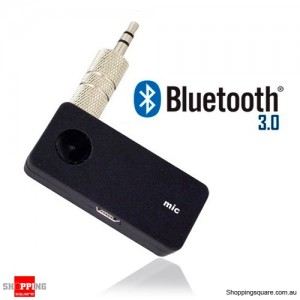 Car Bluetooth 3.0 Music Receiver A2DP AUX Audio Adaptor - Support iPhone, iPod and Android Device