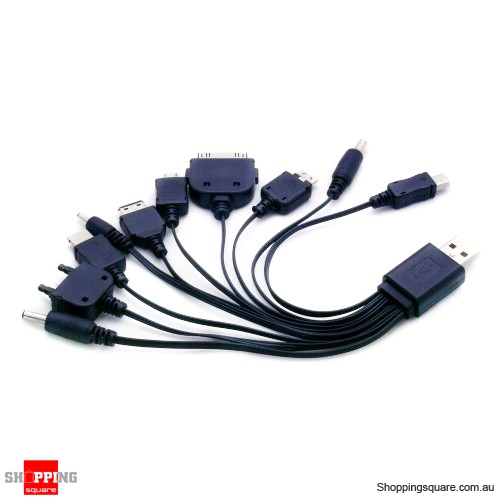 10 in 1 USB Charger Cables for LG NOKIA SAMSUNG HTC Sony Ericsson Sony PSP iPod iPhone