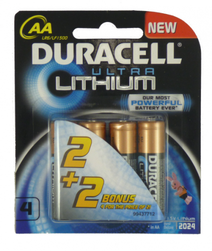 Duracell Ultra Lithium AA Battery 4pcs Pack