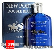 V - NEW PORT DOUBLE BLUE 100ml EDT SP By Value Lines