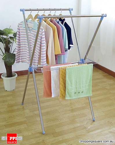 Stainless Steel X Type Clothes Drying Rack Both Indoor And