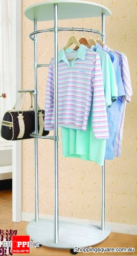 Stainless Steel Elegent Portable Clothes Rack Hang Coats, Hats & Bags