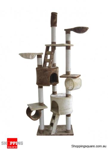 Cat Tree - Scratch Post Ladder Pet Bed Cubby House 178cm 11 Levels