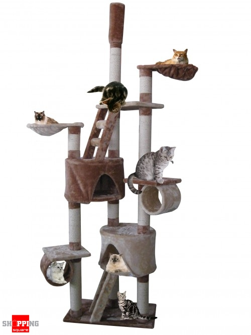 Cat Tree Scratch Post Ladder Pet Bed Cubby House 178cm